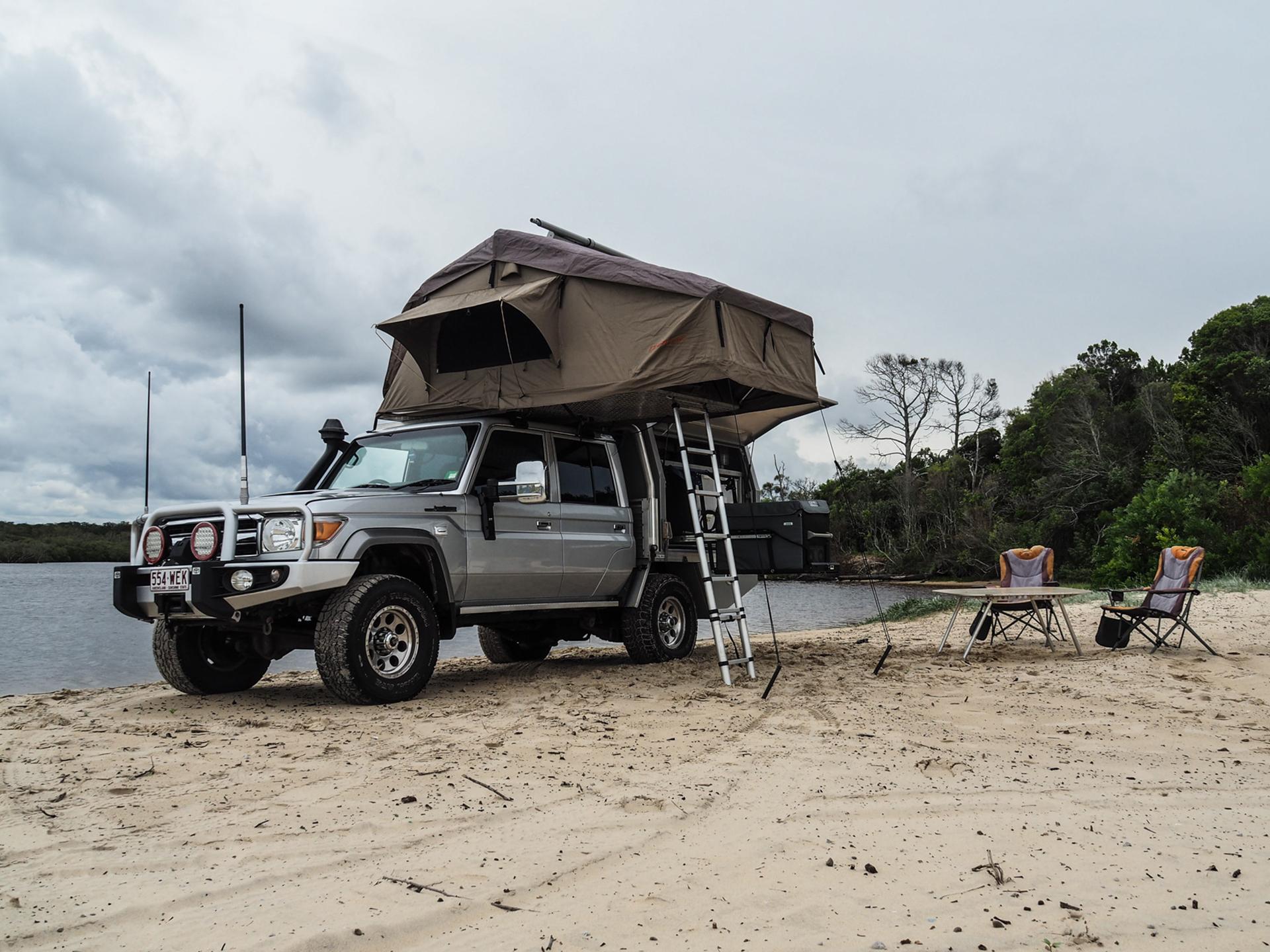 Rooftop Tent Boat Loader