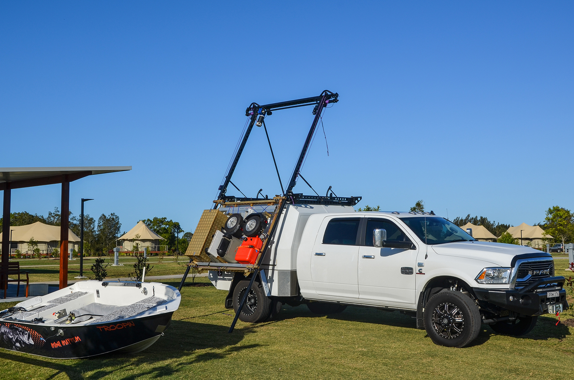 dodge ram side boat loader