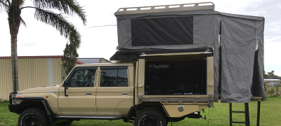 Custom four wheel drive canopy and rooftop tent